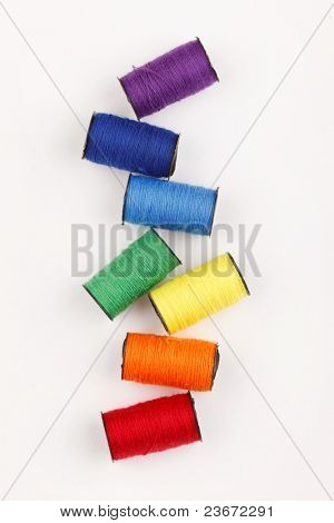 bobbins of lurex thread poster