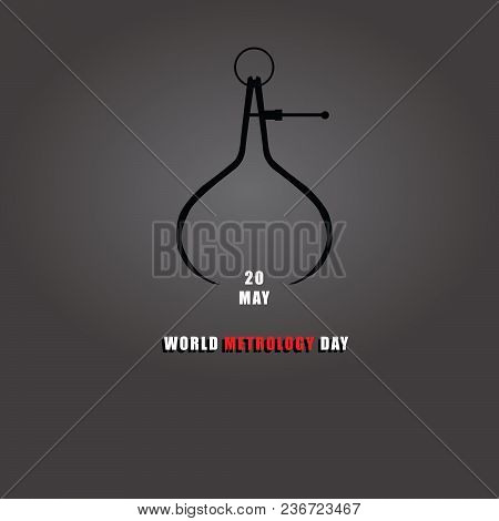 Banner With Old Measuring Instrument, Symbol - World Metrology Day