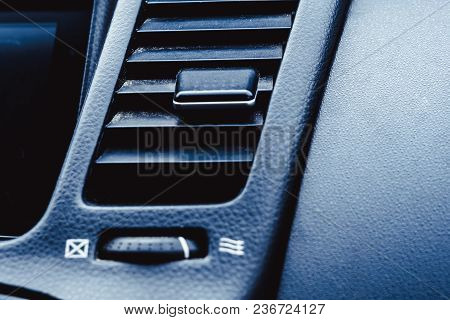 Volume Level Control And Mobile Phone Controls On The Steering Wheel. Air Vent, Odometer And Interio