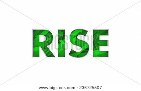 Rise Word Arrows Rising Growth Increase 3d Illustration