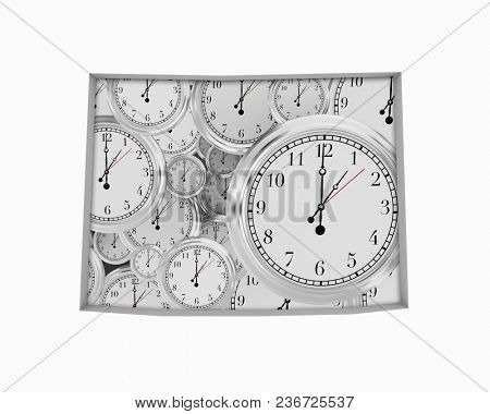 Wyoming WY Clock Time Passing Forward Future 3d Illustration