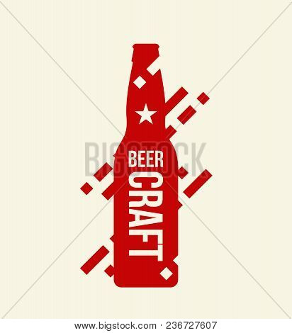 Modern Craft Beer Drink Isolated Vector Logo Sign For Bar, Pub Or Brewery,  Isolated