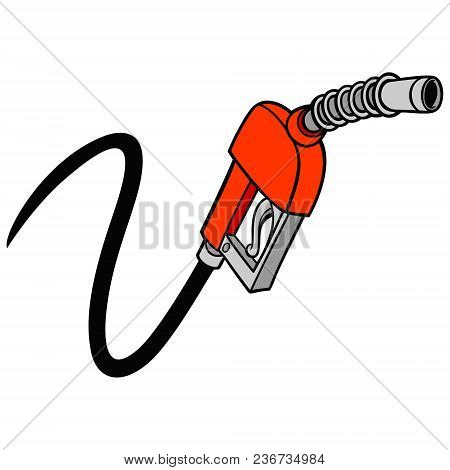 Gas Pump - A Vector Cartoon Illustration Of A Gas Pump Concept.