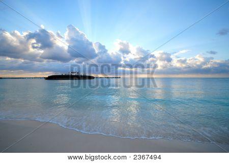 Sunrise Over Shipwreck