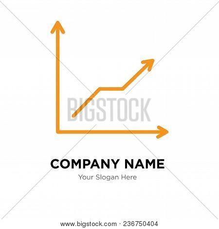 Data Analytics Descending Line Company Logo Design Template, Business Corporate Vector Icon