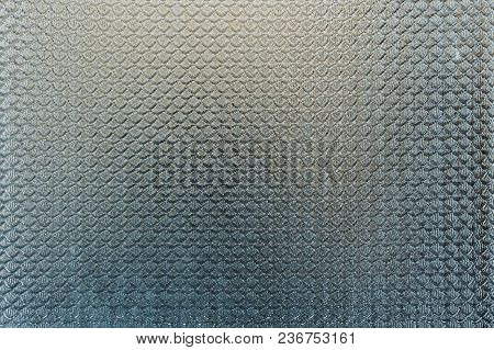 Textured Background Volume Pattern On An Old Window Glass Light Blue With A Gradient. Bed Colors Gra