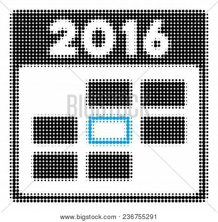 2016 Calendar Day Halftone Vector Icon. Illustration Style Is Dotted Iconic 2016 Calendar Day Icon S