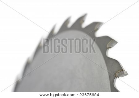 Close Up Of Saw Blade On White Background
