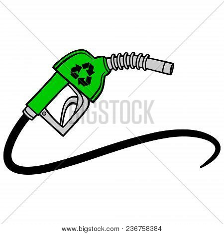Bio Fuel Pump - A Vector Cartoon Illustration Of A Bio Fuel Gas Pump Concept.