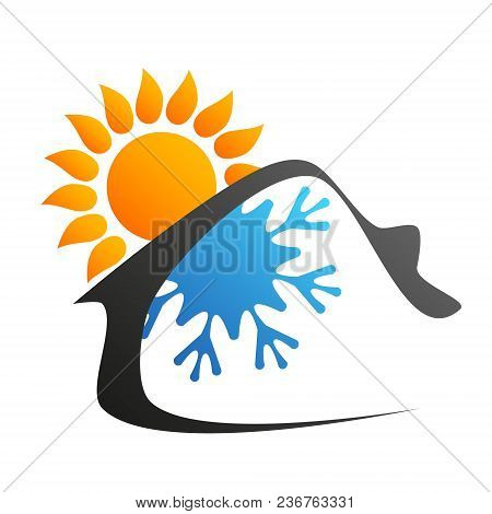 Air Conditioning And Ventilation Home Symbol For Business