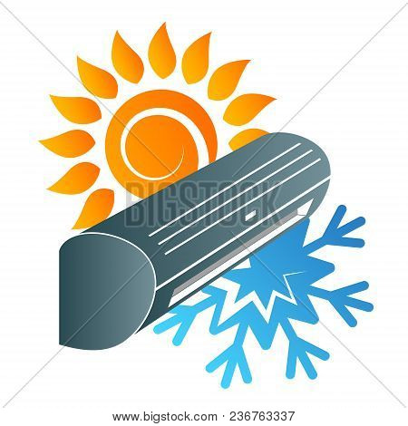 Air Conditioning Sun And Snowflake Design Vector