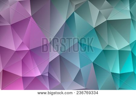 Abstract Multicolored Polygon, Low Polygon Background. Transfusion Of Color. All The Colors Of The R