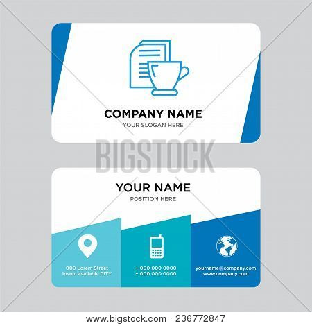 Mail And Tea Business Card Design Template, Visiting For Your Company, Modern Creative And Clean Ide