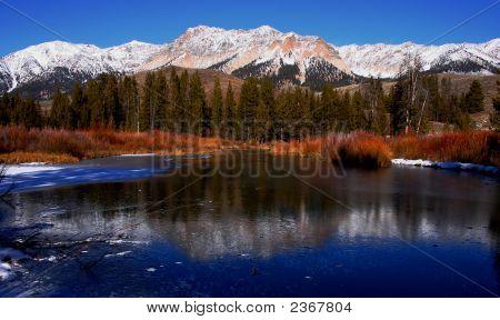Big Wood River In Winter