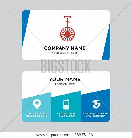 Circus Business Card Design Template, Visiting For Your Company, Modern Creative And Clean Identity