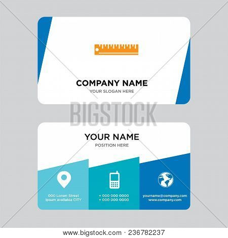 Ruler Business Card Design Template, Visiting For Your Company, Modern Creative And Clean Identity C
