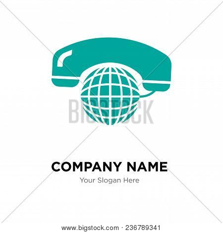 International Calling Service Company Logo Design Template, Business Corporate Vector Icon