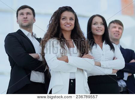 portrait of a young business team