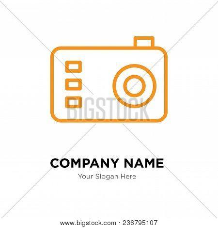 Photo Camera Company Logo Design Template, Business Corporate Vector Icon