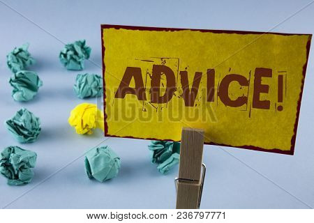 Word Writing Text Advice Motivational Call. Business Concept For Learn To Be Good At Advicing People