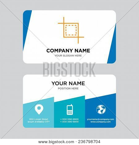 Cropping Tool Business Card Design Template, Visiting For Your Company, Modern Creative And Clean Id