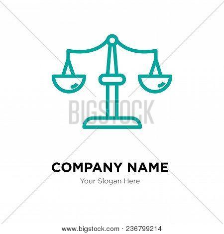 Scales Company Logo Design Template, Business Corporate Vector Icon