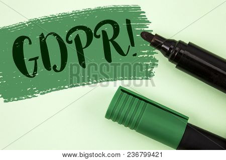 Text Sign Showing Gdpr Motivational Call. Conceptual Photo General Data Protection Regulation Inform