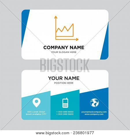 Data Graphic Business Card Design Template, Visiting For Your Company, Modern Creative And Clean Ide