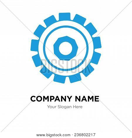 Setting Company Logo Design Template, Business Corporate Vector Icon
