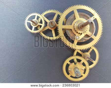 Gears in clock work