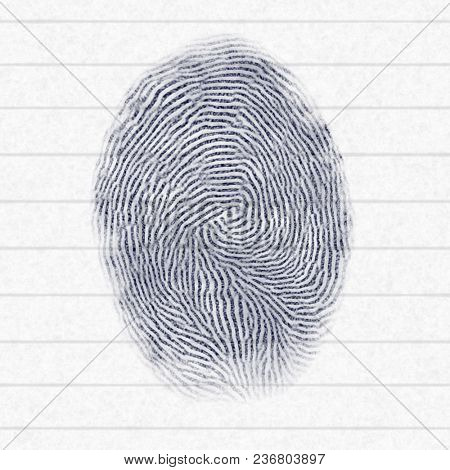 Illustration of a typical finger print