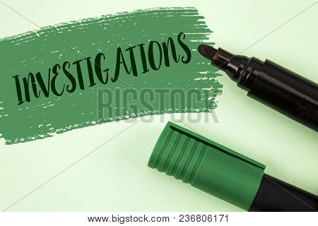 Text Sign Showing Investigations. Conceptual Photo Formal Inquiry Systematic Study Examination Resea