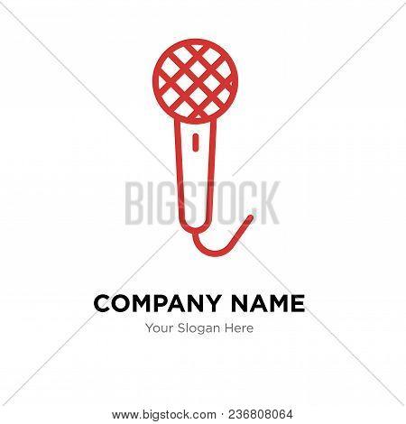 Voice Recorder Company Logo Design Template, Business Corporate Vector Icon
