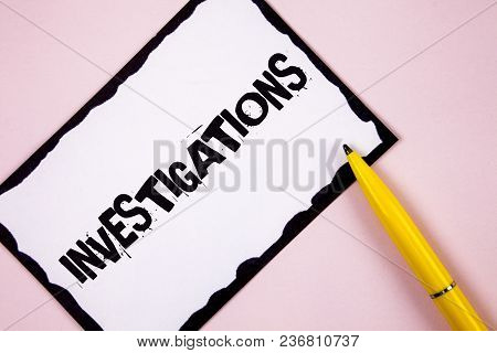 Handwriting Text Investigations. Concept Meaning Formal Inquiry Systematic Study Examination Researc