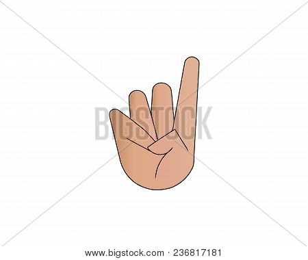 Fingers Crossed Symbol. Gesture Good Luck, Fortune, Lie, Deception. Cartoon Vector Illustration Isol