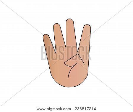 Fingers Crossed Symbol. Gesture Good Luck, Fortune, Lie, Deception. Cartoon Vector Illustration Isol