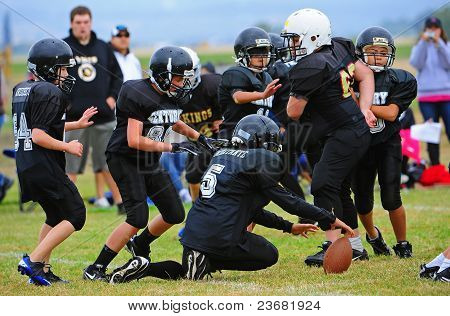Youth American Football fumble