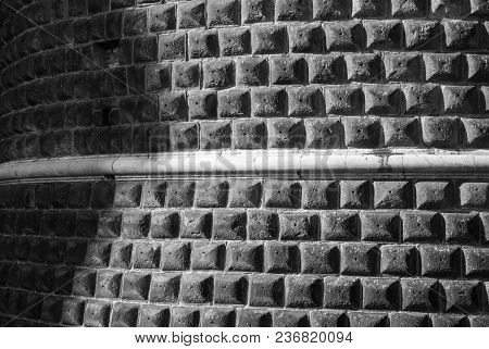 Particular Of A Wall In Black And White - Italy