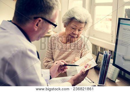 Old woman having a checkup