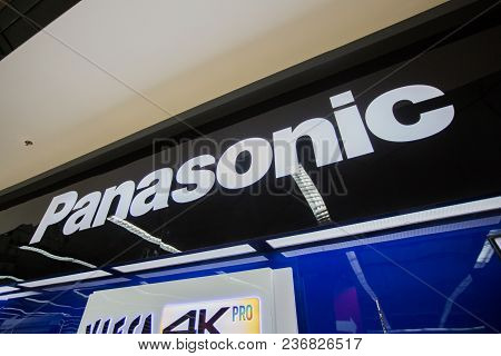 Chiangmai, Thailand - June 16 ,2017: Panasonic Shop Sign, This Branch Is Located In Central Festival