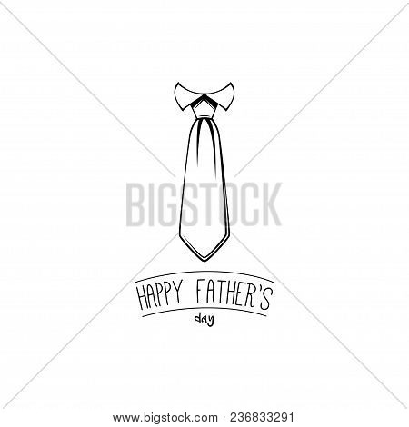 Father day greeting card. Tie icon, Necktie. Dad greeting. Vector illustration poster