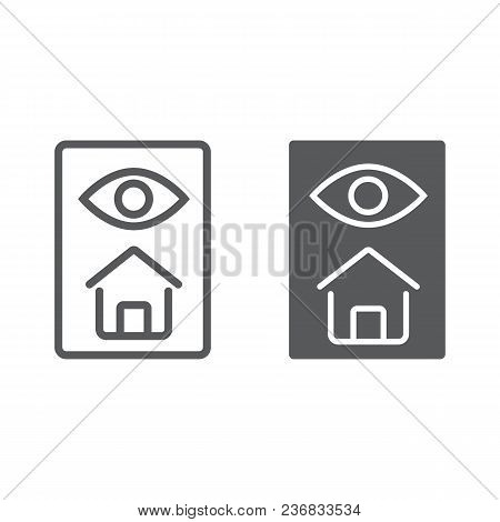 Home Inspection Line And Glyph Icon, Real Estate And Home, Inspect Sign Vector Graphics, A Linear Pa