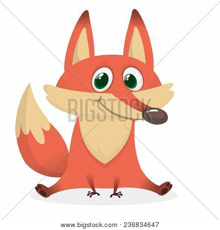 Vector Image Of Smiling Orange Cartoon Fox