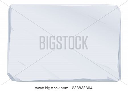 Empty Bulletin Board From A Stone Flat Surface With Small Cracks In Grey Color Isolated