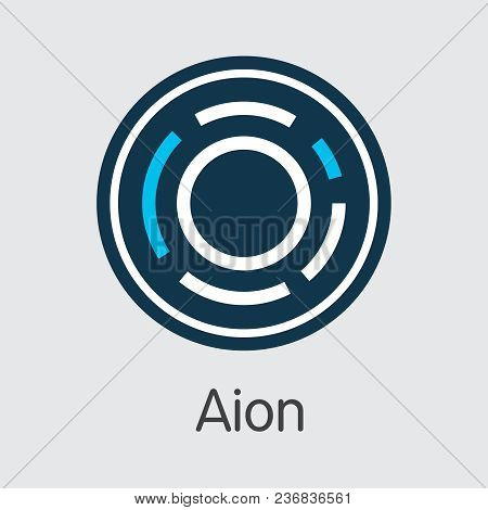 Aion - Coin Pictogram Of Fintech Industry, Finance Digitization. Modern Pictogram. Premium Quality C