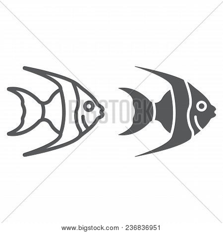 Tropical Fish Line And Glyph Icon, Animal And Underwater, Aquatic Sign Vector Graphics, A Linear Pat