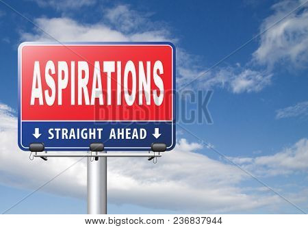 Aspirations and future goals and ambition, achieving target goal. 3D, illustration