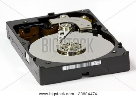 Inside View Of Hard Drive