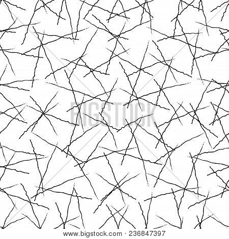 Vector Grunge Seamless Texture Of Hand-drawn Intersecting Trembling Lines.