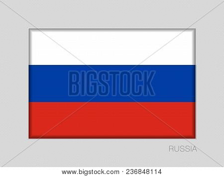 Flag Of Russia. National Ensign Aspect Ratio 2 To 3 On Gray